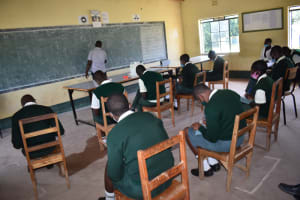 The Water Project: Friends School Manguliro Secondary -  Students Take Notes At Training