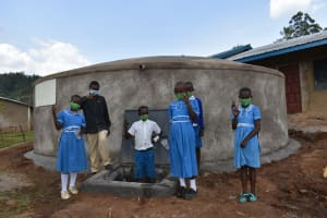 The Water Project: Lwombei Primary School -  At The Tank