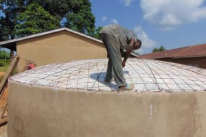 The Water Project: St. Kizito Kimarani Primary School -  Reinforcing The Dome