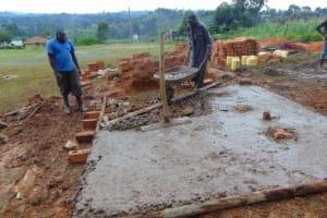 The Water Project: St. Kizito Kimarani Primary School -  Setting Latrine Foundation