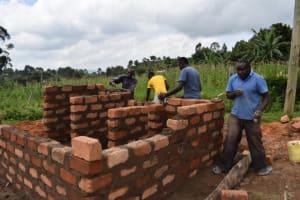 The Water Project: St. Kizito Kimarani Primary School -  Brickwork On The Latrines