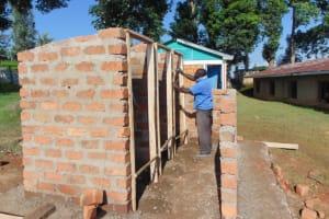 The Water Project: St. Kizito Kimarani Primary School -  Framing The Latrines