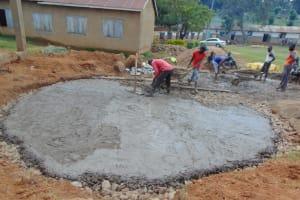 The Water Project: St. Kizito Kimarani Primary School -  Concrete Placement