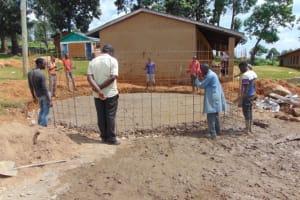 The Water Project: St. Kizito Kimarani Primary School -  Setting The Wire Wall