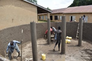 The Water Project: St. Kizito Kimarani Primary School -  Inside Plaster