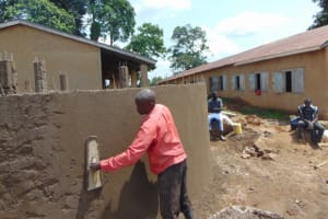 The Water Project: St. Kizito Kimarani Primary School -  Outside Plaster
