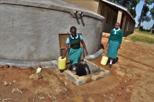 The Water Project: St. Kizito Kimarani Primary School -  Carrying Water To The Kitchen