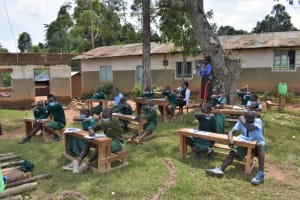 The Water Project: St. Kizito Kimarani Primary School -  Coughing Into Elbows To Reduce Germ Spread