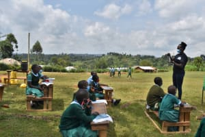 The Water Project: St. Kizito Kimarani Primary School -  Demonstration On Solar Disinfection During The Training