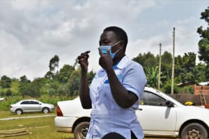 The Water Project: St. Kizito Kimarani Primary School -  Demostrations On How To Properly Put On A Mask