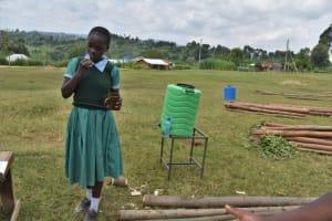 The Water Project: St. Kizito Kimarani Primary School -  Dental Hygiene Practice