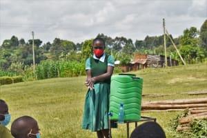 The Water Project: St. Kizito Kimarani Primary School -  Handwashing Demonstration