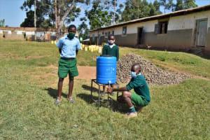 The Water Project: St. Kizito Kimarani Primary School -  Pupils Posing At The Handwashing Station