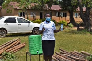 The Water Project: St. Kizito Kimarani Primary School -  The Facilitator Explaining The Importance Of Soap In Handwashing