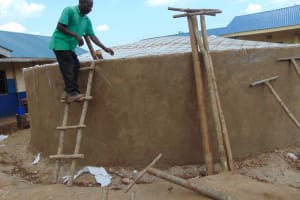 The Water Project: Kapsegeli KAG Primary School -  Erecting The Support Pillars For The Dome