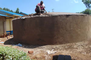 The Water Project: Kapsegeli KAG Primary School -  Setting The Dome