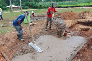 The Water Project: Kapsegeli KAG Primary School -  Laying The Foundation For The Latrine