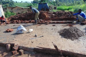 The Water Project: Kapsegeli KAG Primary School -  Brick Setting And Alignment
