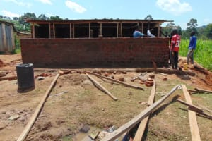 The Water Project: Kapsegeli KAG Primary School -  Roofing The Latrines