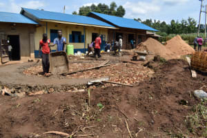 The Water Project: Kapsegeli KAG Primary School -  Setting The Slab