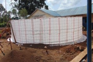The Water Project: Kapsegeli KAG Primary School -  Sacks In Place Ready For Plastering