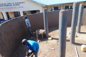 The Water Project: Kapsegeli KAG Primary School -  Inside Plastering