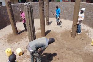 The Water Project: Kapsegeli KAG Primary School -  Plastering The Pillars