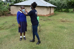 The Water Project: Kapsegeli KAG Primary School -  Facilitator Teaching How To Mask