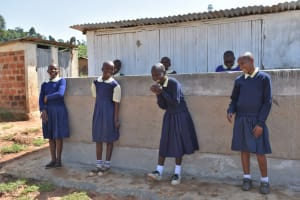 The Water Project: Kapsegeli KAG Primary School -  Girls At Their Latrines