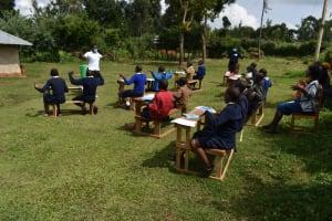 The Water Project: Kapsegeli KAG Primary School -  Handwashing Air Drying