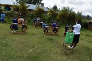 The Water Project: Kapsegeli KAG Primary School -  Handwashing Demonstration