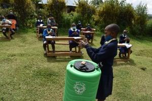 The Water Project: Kapsegeli KAG Primary School -  Handwashing Demonstration Exercise
