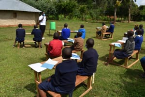 The Water Project: Kapsegeli KAG Primary School -  Ms Betty Leading The Session