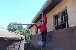 The Water Project: Gimengwa Primary School -  Guttering Works