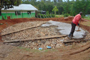 The Water Project: Gimengwa Primary School -  Concrete Placement