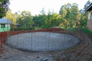 The Water Project: Gimengwa Primary School -  Brc Wall Setting