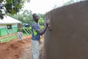 The Water Project: Gimengwa Primary School -  Outside Plaster