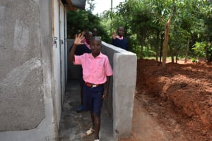 The Water Project: Gimengwa Primary School -  Boys Posing At The Latrines
