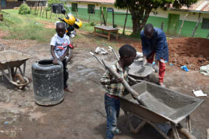 The Water Project: Gimengwa Primary School -  Cement Works