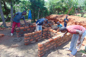 The Water Project: Gimengwa Primary School -  Wall Setting Of The Latrines