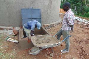 The Water Project: St. Joakim Buyangu Primary School -  Manhole Plastering