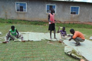 The Water Project: St. Joakim Buyangu Primary School -  Sewing The Dome