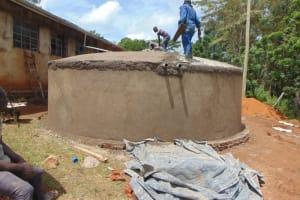The Water Project: St. Joakim Buyangu Primary School -  Dome Plastering
