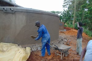 The Water Project: St. Joakim Buyangu Primary School -  Wall Rough Cast