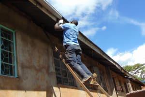 The Water Project: St. Joakim Buyangu Primary School -  Fixing Gutters