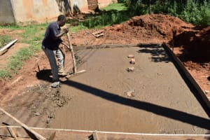 The Water Project: St. Joakim Buyangu Primary School -  Latrine Slab Installation