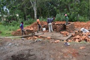 The Water Project: St. Joakim Buyangu Primary School -  Brickwork