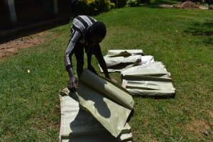 The Water Project: St. Joakim Buyangu Primary School -  Sugar Sacks Ready For Walling