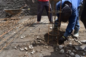 The Water Project: St. Joakim Buyangu Primary School -  Pillar Setting And Placement