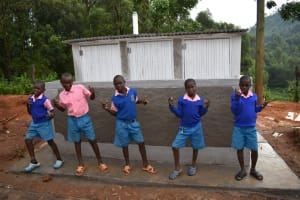The Water Project: St. Joakim Buyangu Primary School -  Boys Posing At Their Vip Latrines